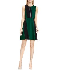 Vince Camuto Sleeveless Colorblock Dress Green Black
