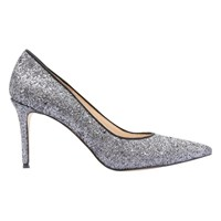Mint Velvet Rihanna Pointed Toe Court Shoes Pewter Metallic