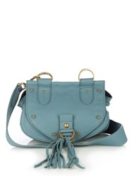 See By Chloe Collins Mini Suede Cross Body Bag Blue
