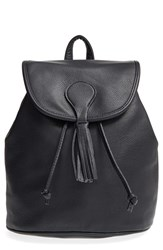 Sole Society Faux Leather Backpack Black