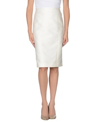Martinelli Knee Length Skirts Ivory