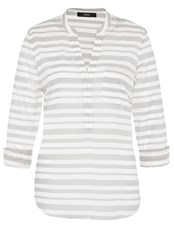 Hallhuber Tunic With Herringbone Inspired Stripes Grey