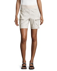 Xcvi Zip Pocket Pull On Shorts Sea Salt