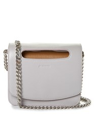 Jil Sander Chain Strap Leather Cross Body Bag Light Grey