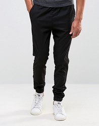 Only And Sons Cuffed Trouser In Slim Fit Black