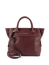 Vince Camuto Top Zip Leather Satchel Driftwood