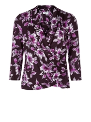 Eastex Fleur Print Top Purple