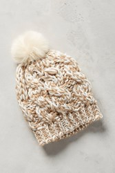 Anthropologie Pommed Conway Beanie Neutral