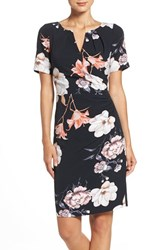 Adrianna Papell Women's Pleated Floral Sheath Dress