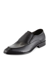 Kenneth Cole U Bet Cha Leather Slip On Loafer Black