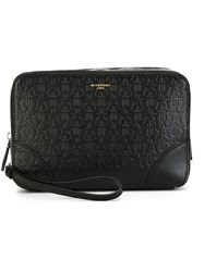 Givenchy Star Embossed Zipped Clutch Black