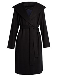 The Row Marney Wool Blend Coat Black