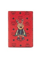 Mcm Rabbit Passport Holder Ruby Red