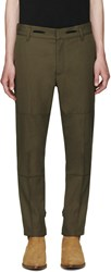 Marc Jacobs Green Twill Strictly Trousers