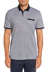 Ted Baker Men's London Contrast Trim Print Jersey Polo