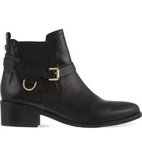 Carvela Saddle Leather Chelsea Boots Black
