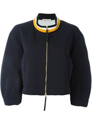 Marni Stripe Collar Bomber Blue