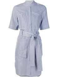 Adam By Adam Lippes Adam Lippes Belted Shirt Dress Blue