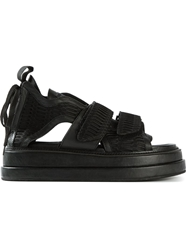 Ktz Cut Out Velcro Fastening Sandals Black