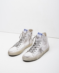 Golden Goose Francy Sneaker White And Silver