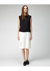 Peter Jensen Lace Cut Out Skirt White