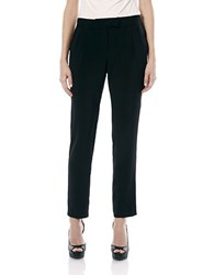 Laundry By Shelli Segal Pleated Tuxedo Ankle Pants Black