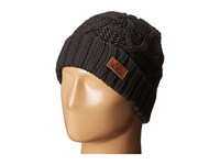 Woolrich Wool Blend Cable Knit Cuff Cap Black Caps