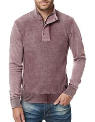 Buffalo David Bitton Walmock Quarter Zip Sweater Maroon