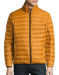 Hawke And Co Packable Down Puffer Jacket Mustard