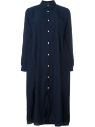 Comme Des Garcons Gara Ons Gara Ons Oversize Casual Shirt Dress Blue