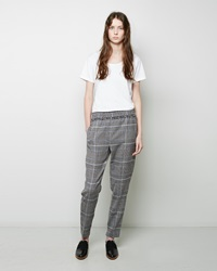 3.1 Phillip Lim Smocked Fringe Waistband Trouser Black And White