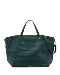 Lauren Merkin Nina Leather Zip Tote Bag Hunter