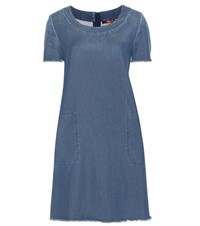 7 For All Mankind Denim Dress Blue