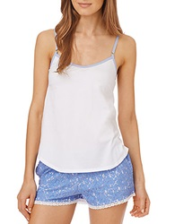 Dkny Pier Side Lounging Camisole White Perwinkle