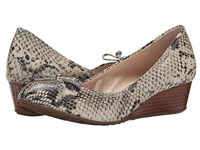 Cole Haan Tali Grand Lace Wedge 40 Sahara Snake Print Women's Slip On Shoes Taupe
