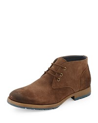 Neiman Marcus Roma Lug Sole Chukka Boot Brown
