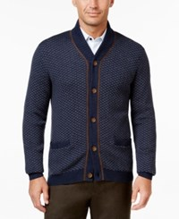 Tasso Elba Men's Big And Tall Shawl Collar Texture Cardigan Only At Macy's Inky Night Heather