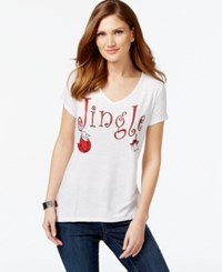 Inc International Concepts Holiday Graphic T Shirt Only At Macy's Bright White
