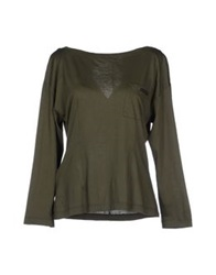 Prada T Shirts Military Green