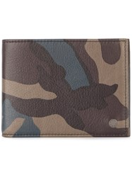 Orciani 'Mimetic' Camouflage Billfold Wallet Multicolour
