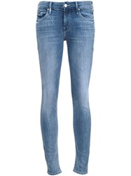 Mother 'Double Time' Skinny Jeans Blue