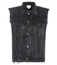 Citizens Of Humanity Mytheresa.Com Exclusive Trucker Distressed Denim Vest Grey