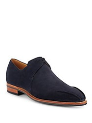 Corthay Arca Stream Leather Lace Up Loafers Blue