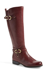 Naturalizer 'Jennings' Knee High Boot Women Wide Calf Burgundy Leather
