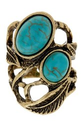 Stephan And Co Multi Stone Ring Size 7 Blue