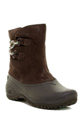 The North Face Shellista Ii Faux Fur Lined Pull On Boot Brown