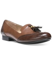 Naturalizer Lorraine Tasseled Loafers Women's Shoes Tan Brown