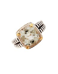 Lord And Taylor Sterling Silver 14K Yellow Gold Multi Ring Brown