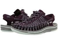 Keen Uneek Plum Shark Women's Toe Open Shoes Brown