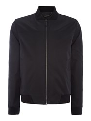 Kenneth Cole Camden Bomber Jacket With Baseball Collar Black
